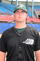 Southwest Michigan Devil Rays Greg Dupas poses for a photo before a Midwest League game at C.O. Brown Stadium on July 14, 2006 in Battle Creek, Michigan.  (Mike Janes/Four Seam Images)