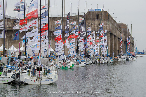 In the Saint-Nazaire village of the Solitaire du Figaro 2020