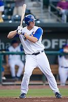 Right fielder Jamie Hoffmann (34) of the Jacksonville Suns at bat at the Baseball Grounds in Jacksonville, FL, Thursday June 12, 2008.