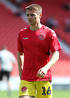 Fleetwood Town's Jordan Rossiter during the pre-match warm-up <br /> <br /> Photographer David Shipman/CameraSport<br /> <br /> The EFL Sky Bet League One - Doncaster Rovers v Fleetwood Town - Saturday 17th August 2019  - Keepmoat Stadium - Doncaster<br /> <br /> World Copyright © 2019 CameraSport. All rights reserved. 43 Linden Ave. Countesthorpe. Leicester. England. LE8 5PG - Tel: +44 (0) 116 277 4147 - admin@camerasport.com - www.camerasport.com