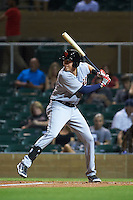 Scottsdale Scorpions third baseman Dominic Ficociello (17) at bat during an Arizona Fall League game against the Salt River Rafters on October 13, 2015 at Salt River Fields at Talking Stick in Scottsdale, Arizona.  Salt River defeated Scottsdale 5-3.  (Mike Janes/Four Seam Images)