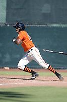 San Francisco Giants infielder Rando Moreno (16) during an instructional league game against the Arizona Diamondbacks on October 3, 2013 at Giants Baseball Complex in Scottsdale, Arizona.  (Mike Janes/Four Seam Images)