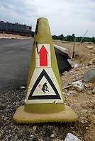 Electrocution hazard cone, Columbus, Ohio