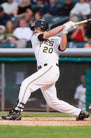 June 17, 2009:  Matthew Brown of the Salt Lake Bees, Pacific Cost League Triple A affiliate of the Los Angeles (Anaheim) Angles, during a game at the Spring Mobile Ballpark in Salt Lake City, UT.  Photo by:  Matthew Sauk/Four Seam Images