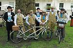 The Tweed Run London UK. Team Tyrrells sponsors.