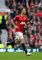 Pictured: Ryan Giggs.<br /> Sunday 12 May 2013<br /> Re: Barclay's Premier League, Manchester City FC v Swansea City FC at the Old Trafford Stadium, Manchester.