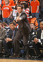 Virginia's head coach Tony Bennett_Virginia held North Carolina State scoreless for more than 7 minutes on the way to a 59-47 victory Wednesday night at the John Paul Jones Arena in Charlottesville, VA. Virginia (14-6, 5-2 Atlantic Coast Conference) regained a share of first place in the conference. (Photo/Andrew Shurtleff)....