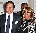 Smokey Robinson and Aretha Franklin attending the Broadway World Premiere Launch for 'Motown: The Musical' at the Nederlander in New York. Sept. 27, 2012