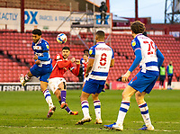 2nd April 2021, Oakwell Stadium, Barnsley, Yorkshire, England; English Football League Championship Football, Barnsley FC versus Reading; Alex Mowatt of Barnsley sees a late effort on goal blocked