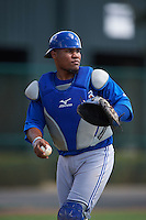 Toronto Blue Jays Juan Kelly (19) during practice before an instructional league game against the Atlanta Braves on September 30, 2015 at the ESPN Wide World of Sports Complex in Orlando, Florida.  (Mike Janes/Four Seam Images)