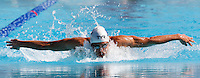 Trofeo Settecolli di nuoto al Foro Italico, Roma, 14 giugno 2013.<br /> Jordan Coelho, of France, competes in the men's 200 meters butterfly at the Sevenhills swimming trophy in Rome, 14 June 2013.<br /> UPDATE IMAGES PRESS/Isabella Bonotto