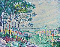 Signac,  Paul (1863-1935),  Pont de L麡rdrieux,  ֬ auf Leinwand,  73x92, 7,  Postimpressionismus,  1925,  Frankreich,  Privatsammlung.  | Signac,  Paul (1863-1935),  Pont de L麡rdrieux,  Oil on canvas,  73x92, 7,  Postimpressionism,  1925,  France,  Private Collection.   Credit: culture-images/fai  Persoenlichkeitsrechte werden nicht vertreten.  Verwendung / usage: weltweit / worldwide