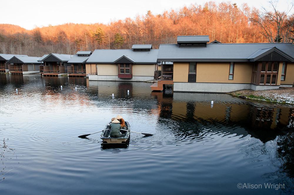 Hoshinoya Karuizawa luxury resort at the foot of Mt. Asam.