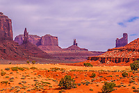 Incredibly colorful Monument Valley in Arizona.