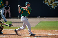 Siena Saints first baseman Joe Drpich (47) at bat during a game against the UCF Knights on February 21, 2016 at Jay Bergman Field in Orlando, Florida.  UCF defeated Siena 11-2.  (Mike Janes/Four Seam Images)