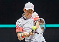 Rotterdam, The Netherlands, 5 march  2021, ABNAMRO World Tennis Tournament, Ahoy,  Quarter final: Kei Nishikori (JPN).<br /> Photo: www.tennisimages.com/henkkoster