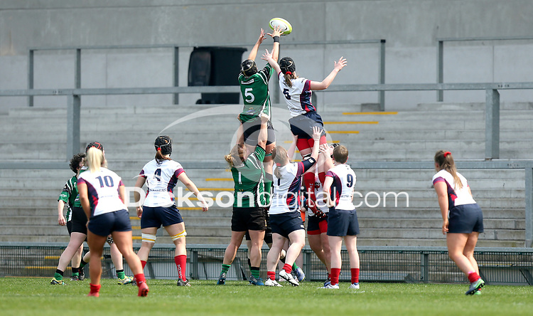 Saturday 20th April 2019   2019 Ulster Women's Junior Cup Final<br /> <br /> Julie Pollock during the Ulster Women's Junior Cup final between Malone and City Of Derry at Kingspan Stadium, Ravenhill Park, Belfast. Northern Ireland. Photo John Dickson/Dicksondigital