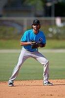 Miami Marlins shortstop Yadiel Rivera (2) during a Minor League Spring Training Intrasquad game on March 28, 2019 at the Roger Dean Stadium Complex in Jupiter, Florida.  (Mike Janes/Four Seam Images)