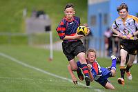 Southern North Island Primary Schools Rugby Tournament - Mana Primary Schools v Horo-Kapiti Primary Schools at Porirua Park, Porirua, New Zealand on Wednesday 28 September 2016.<br /> Photo by Masanori Udagawa. <br /> www.photowellington.photoshelter.com.