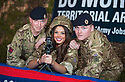 Miss Scotland, Nicole Treacy, helps raise awareness of the TA and it's vital role as she meets Lance Corporal Andy Hough and Sapper Sapper Chris Handley from 124 Field Squadron, The Royal Engineers TA in Cumbernauld ?