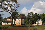 A former British colonial home, now occupied by many families.  Pyin U Lwin Myanmar (formally known as Maymyo Burma.) 2006