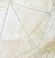 aerial photograph of a compass rose Edwards Air Force Base, Kern County, California