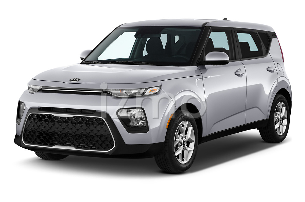 2020 KIA Soul S 5 Door Hatchback Angular Front automotive stock photos of front three quarter view