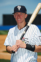Staten Island Yankees shortstop John Murphy #36 poses for a photo before a game against the Connecticut Tigers on July 7, 2013 at Richmond County Bank Ballpark in Staten Island, New York.  Staten Island defeated Connecticut 6-2.  (Mike Janes/Four Seam Images)