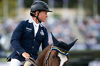 3rd October 2021;  Real Club de Polo, Barcelona, Spain; CSIO5 Longines FEI Jumping Nations Cup Final 2021; Rolf Goran Bengtsson from Sweden during the FEI Jumping Nations Cup Final 2021