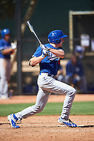 Los Angeles Dodgers Luke Raley (68) during an Instructional League game against the Cleveland Indians on October 10, 2016 at the Camelback Ranch Complex in Glendale, Arizona.  (Mike Janes/Four Seam Images)