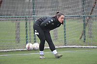 Sara Missair (21) of Sporting Charleroi  pictured during a female soccer game between SV Zulte - Waregem and Sporting Charleroi on the eleventh matchday of the 2020 - 2021 season of Belgian Scooore Womens Super League , saturday 23 th of January 2021  in Zulte , Belgium . PHOTO SPORTPIX.BE   SPP   DIRK VUYLSTEKE
