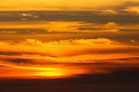 Sunset from Plaskett Ridge, Los Padres National Forest, Big Sur, California, US