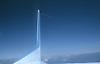 vertical stabilizer and rudder in blue sky<br /> <br /> timón de dirección en cielo azul<br /> <br /> Seitenleitwerk in blauem Himmel<br /> <br /> Original: 35 mm slide transparency