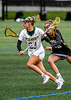 17 April 2021: University of Vermont Catamount Midfielder Grace Giancola, a Redshirt Junior from Canton, CT, in action against the UMBC Retrievers at Virtue Field in Burlington, Vermont. The Lady Cats fell to the Retrievers 11-8 in the America East Women's Lacrosse matchup. Mandatory Credit: Ed Wolfstein Photo *** RAW (NEF) Image File Available ***
