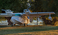 A Grumman GA-44A, Widgeon, N86611, parked at the Clear Lake Seaplane Splash-In, Lakeport, Lake County, California