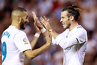 Real Madrid's Karim Benzema (l) and Gareth Bale celebrate goal during La Liga match. August 20,2017. (ALTERPHOTOS/Acero)<br /> Deportivo La Coruna - Real Madrid <br /> Liga Campionato Spagna 2017/2018<br /> Foto Alterphotos / Insidefoto <br /> ITALY ONLY