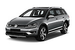 2017 Volkswagen Golf Alltrack Base 5 Door Wagon angular front stock photos of front three quarter view
