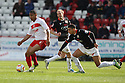 Darius Charles of Stevenage battles with Daniel Powell of MK Dons. Stevenage v MK Dons - npower League 1 -  Lamex Stadium, Stevenage - 27th April, 2013. © Kevin Coleman 2013. ..