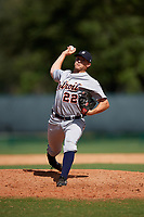 Detroit Tigers pitcher Will Vest (22) delivers a pitch during an Instructional League game against the Atlanta Braves on October 10, 2017 at the ESPN Wide World of Sports Complex in Orlando, Florida.  (Mike Janes/Four Seam Images)