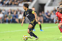 Los Angeles, CA - September 21, 2019.  Toronto FC and LAFC played to a 1-1 draw in an MLS match at Banc of California stadium in Los Angeles.