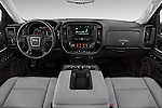 Stock photo of straight dashboard view of 2018 GMC Sierra 1500 2WD Crew Cab Short Box 4 Door Pick-up Dashboard