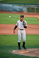 Grand Junction Rockies starting pitcher Jeffri Ocando (30) during the game against the Ogden Raptors at Lindquist Field on September 6, 2017 in Ogden, Utah. Ogden defeated Grand Junction 11-7. (Stephen Smith/Four Seam Images)