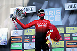 Warren Barguil (FRA) Team Arkea-Samsic wins the day's combativity prize at the end of Stage 8 of Paris-Nice 2021, running 92.7km from Le Plan-du-Var to Levens, France. 14th March 2021.<br /> Picture: ASO/Fabien Boukla | Cyclefile<br /> <br /> All photos usage must carry mandatory copyright credit (© Cyclefile | ASO/Fabien Boukla)