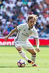 Real Madrid's player Luka Modric during a match of La Liga Santander at Santiago Bernabeu Stadium in Madrid. September 10, Spain. 2016. (ALTERPHOTOS/BorjaB.Hojas)