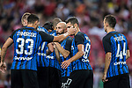 FC Internazionale Forward Eder Citadin Martins (H) celebrating his goal with his teammates during the International Champions Cup match between FC Bayern and FC Internazionale at National Stadium on July 27, 2017 in Singapore. Photo by Marcio Rodrigo Machado / Power Sport Images