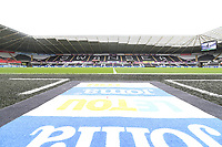 A general view of the LETOU and Joma carpet by the tunnel of the Liberty Stadium prior to kick off of the Premier League match between Swansea City and Manchester United at The Liberty Stadium, Swansea, Wales, UK. Saturday 18 August 2017