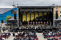 Team Alpecin-Fenix at the pre Tour teams presentation of the 108th Tour de France 2021 in Brest at le Grand Départ.
