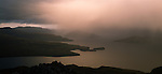 Auckland Island from Adams Island and Carnley Harbour at sunset. New Zealand Sub-Antarctic Islands.
