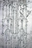 Visual Arts:  Villard De Honnecourt, Plate 40.  THE SKETCHBOOK OF VILLARD DE HONNECOURT.