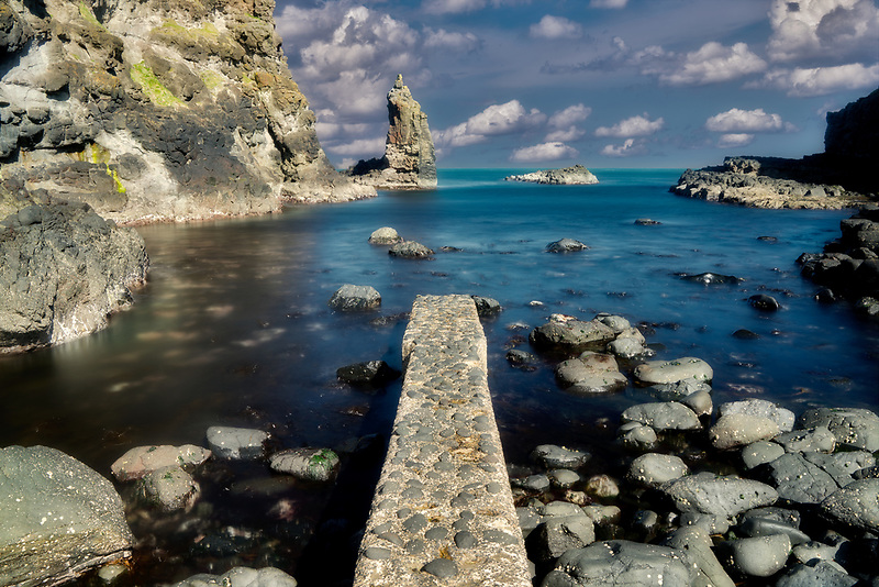 Old stone Jetty at Runkerry Head. Called Portcoon Jetty. Northern Ireland